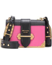 Prada - All Designer Products - Cahier Leather Shoulder Bag - Lyst