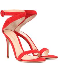 Gianvito Rossi - Exclusive To Mytheresa. Com – Cross Strap Suede Sandals - Lyst