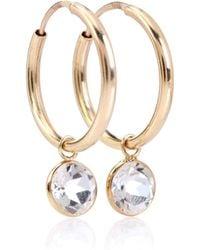 Loren Stewart - 14kt Gold And Topaz Hoop Earrings - Lyst