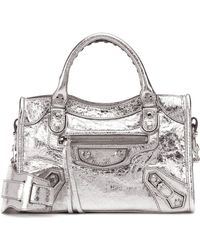 Nouveaux produits 5e2d5 f91b3 Lyst - Petit sac porté épaule Ville AJ Day Balenciaga en ...