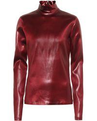 Givenchy - Faux Leather Top - Lyst
