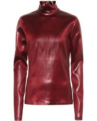 Givenchy - High Neck Coated Satin Top - Lyst