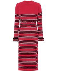 Fendi - Striped Wool And Cashmere Dress - Lyst