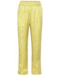 Asceno - Pantaloni pigiama a stampa in seta - Lyst