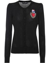 Dolce & Gabbana - Embellished Wool-blend Cardigan - Lyst