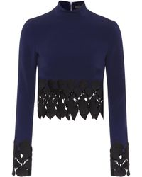 David Koma - Embroidered Top - Lyst