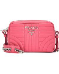 b9a4d48a1313c3 Prada - Diagramme Leather Crossbody Bag - Lyst
