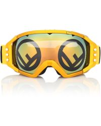 Fendi - Golden Roma Mirrored Metallic Ski Goggles - Lyst