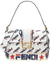 c931885fcfd0 Lyst - Fendi X Fila Strap You Mania Logo Bicolor Guitar Bag Strap -