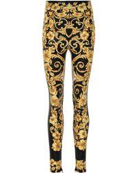Versace - Bedruckte Leggings - Lyst