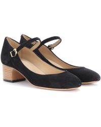 A.P.C. - Victoria Suede Court Shoes - Lyst