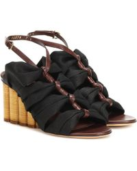 Ferragamo - Leather-trimmed Sandals - Lyst