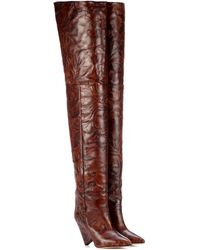 Isabel Marant - Lostynn Embossed Leather Boots - Lyst