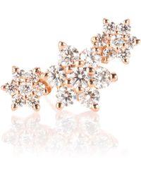 Maria Tash - Diamond Flower Garland 18kt Gold And Diamond Single Earring - Lyst