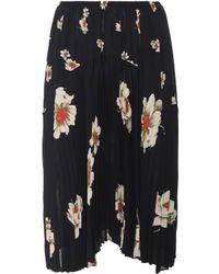 Vince - Floral-printed Plissé Skirt - Lyst