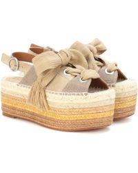 494e30dd79d7 Chloé Suede Lauren Platform Sandals - Lyst
