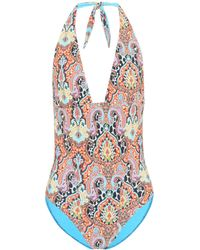 Etro - Printed One-piece Swimsuit - Lyst