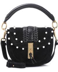 Altuzarra - Ghianda Mini Embellished Suede Shoulder Bag - Lyst