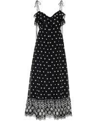 Athena Procopiou - Embroidered Cotton Dress - Lyst