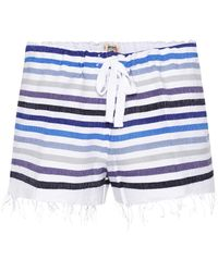 lemlem - Striped Cotton-blend Shorts - Lyst