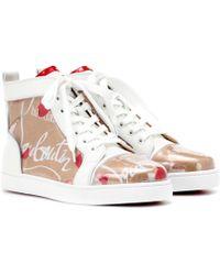 Christian Louboutin - Louis Loubi Kraft Pvc Sneakers - Lyst