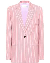 Victoria, Victoria Beckham - Striped Cotton Blazer - Lyst