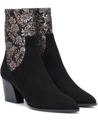 Pierre Hardy - Ankle Boots Rodeo aus Veloursleder - Lyst