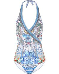 Camilla - Embellished Printed Swimsuit - Lyst