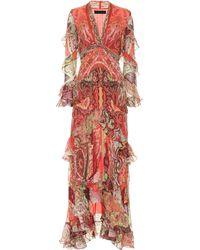 Etro - Vestido de seda estampado - Lyst