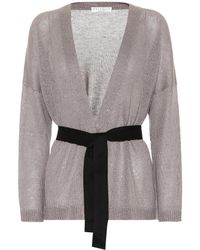 Brunello Cucinelli - Sequinned Linen And Silk Cardigan - Lyst
