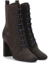 Saint Laurent | Suede Ankle Boots | Lyst