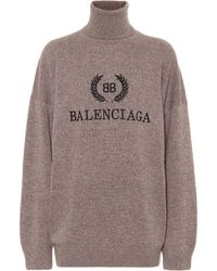 Balenciaga - Bb Mode Turtleneck Sweater - Lyst