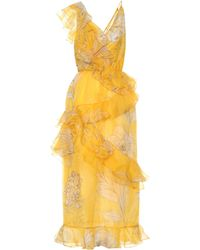 Johanna Ortiz - Sunlight Silk Midi Dress - Lyst