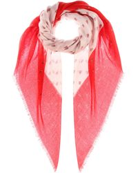 Valentino - Printed Cashmere And Silk Scarf - Lyst