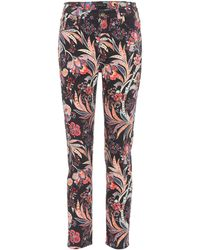 Etro - Printed Cotton Cropped Trousers - Lyst