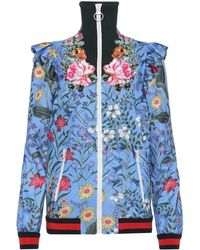 Gucci - Giacca Ricamata In Jersey Con Stampa New Flora - Lyst