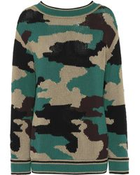 Burberry - Camouflage Cotton Jumper - Lyst