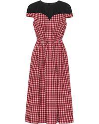 Fendi - Plaid Flared Midi Dress - Lyst