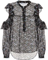 Veronica Beard | Cora Printed Silk-blend Blouse | Lyst