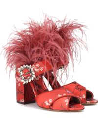 Tabitha Simmons - X Johanna Ortiz Reyner Feather-trimmed Sandals - Lyst