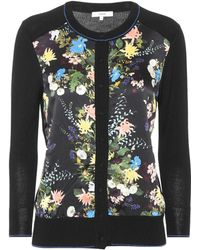 Erdem - Wool And Silk-blend Floral Cardigan - Lyst