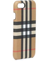Burberry - Checked Leather Iphone 8 Case - Lyst