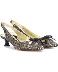 Marc Jacobs - Embellished Slingback Court Shoes - Lyst