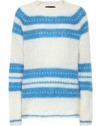 ALEXACHUNG - Mohair And Wool-blend Sweater - Lyst