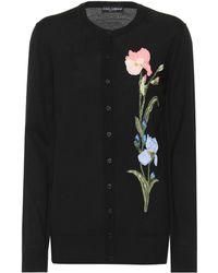 Dolce & Gabbana - Cardigan en laine à ornements - Lyst