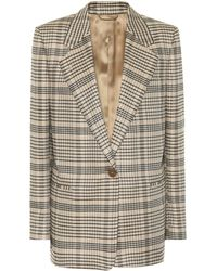 Acne Studios - Checked Wool-blend Blazer - Lyst