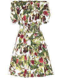 Dolce & Gabbana - Off-Shoulder-Kleid aus Baumwolle - Lyst