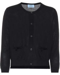 Prada - Cropped Wool Cardigan - Lyst