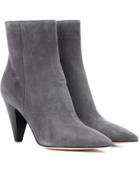 Gianvito Rossi - Exclusive To Mytheresa. Com – Kay Suede Ankle Boots - Lyst