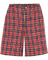 Gucci - Checked Tweed Shorts - Lyst
